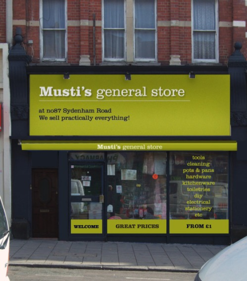 The new version, same shop frontage, just a bit of paint, new awning and sign.